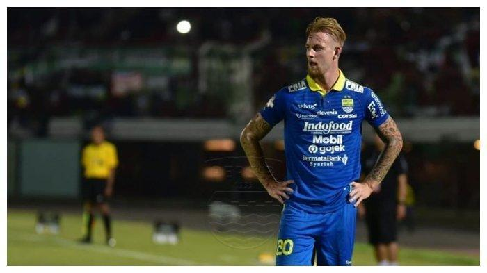 Penyerang Persib Bandung, Kevin Kippersluis mencetak gol debut di laga melawan Persebaya Surabaya di Stadion Kapten I Wayan Dipta, Bali, Jumat (18/10/2019).