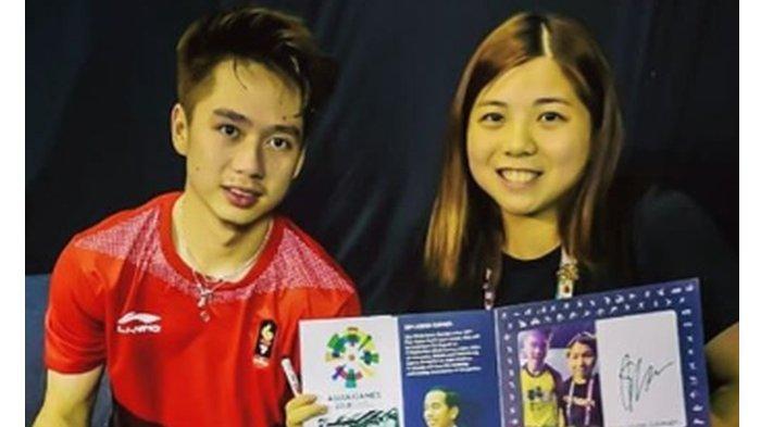 Lagi, Ng Weng Chi Bikin Patah Hati karena Terima Bunga dari Kevin Sanjaya