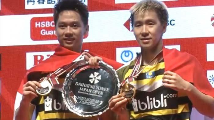 Detik-detik Marcus/Kevin Juara Japan Open 2018, Kevin Lagi-lagi Beraksi Tengil