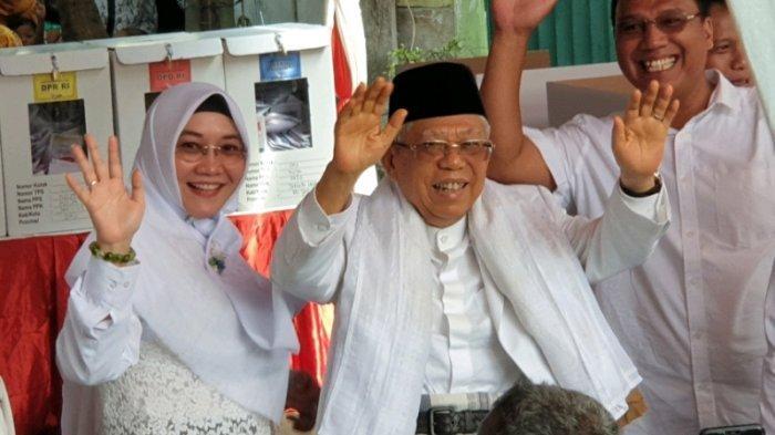 Di TPS Ma'ruf Amin Mencoblos, Jokowi-Ma'ruf atau Prabowo-Sandi yang Menang? Ini Hasilnya