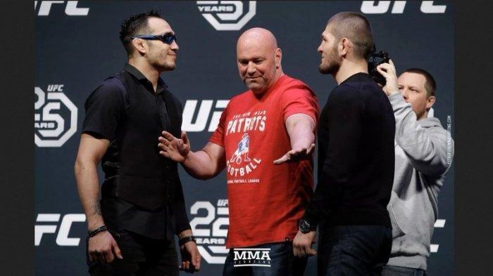 Jadwal Pertarungan Khabib Nurmagomedov vs Tony Ferguson, Perebutan Gelar Juara UFC Kelas Ringan