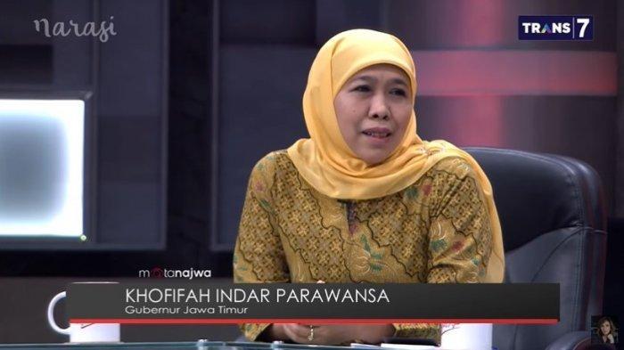 Gubernur Jawa Timur, Khofifah sebut tagline Pemprov Jatim 'Cetar'.