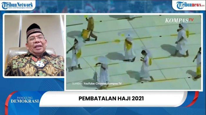 Plt Dirjen Penyelenggaraan Haji dan Umrah (PHU) Kementerian Agama (Kemenag), Khoirizi Dasir, dalam program Panggung Demokrasi Tribunnews, Rabu (9/6/2021).