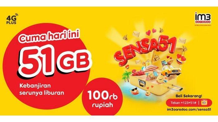 khusus hari ini promo paket data indosat im3 51gb hanya 100 ribu