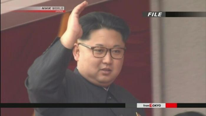 Pemimpin Korea Utara Kim Jong Un (NHK)