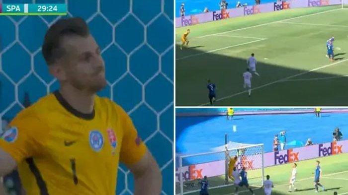 Blunder Kiper Slovakia Saat Lawan Spanyol Disebut Sebagai Gol Paling Konyol Sepanjang Masa