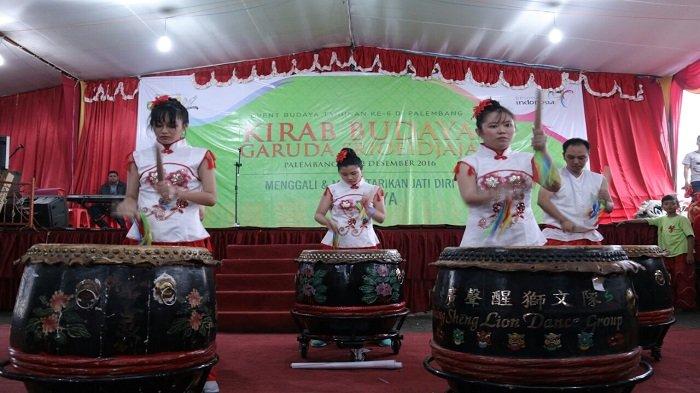 Heboh, Kirab Budaya Garuda Srioeidjaja 2016 di Palembang