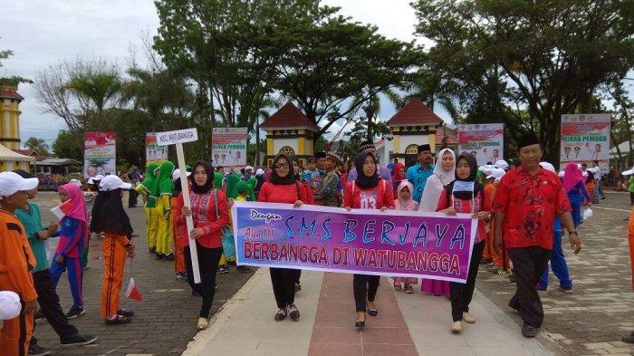 Masyarakat Kolaka Sambut Antusias Peserta Kirab Pemuda Nusantara 2017