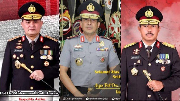 (Kiri) Irjen Pol Dr. Mohammad Fadil Imran, M.Si (Tengah) Irjen Pol Drs. Ahmad Dofiri, M.Si (Kiri) Irjen Pol Drs. Nana Sujana, M.M