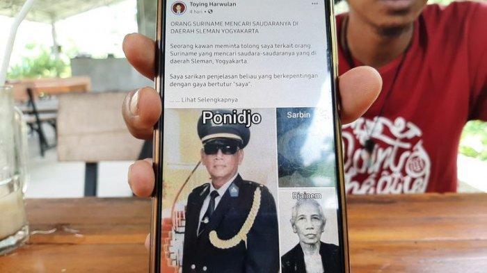 Kisah Eks Kepala Polisi di Suriname Cari Keluarganya di Sleman, Berawal Live Streaming Campur Sari