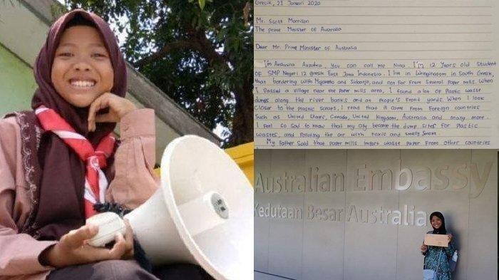 Kisah Gadis Asal Gresik Kirim Surat ke PM Australia, Jerman & Donald Trump, Protes Impor Sampah