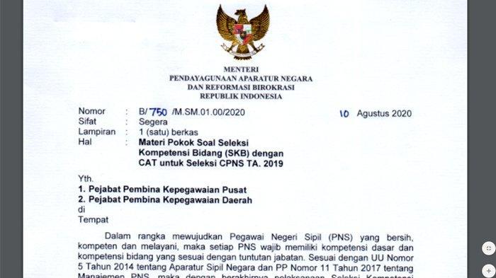 Kisi-Kisi Materi Pokok Soal SKB CPNS 2019