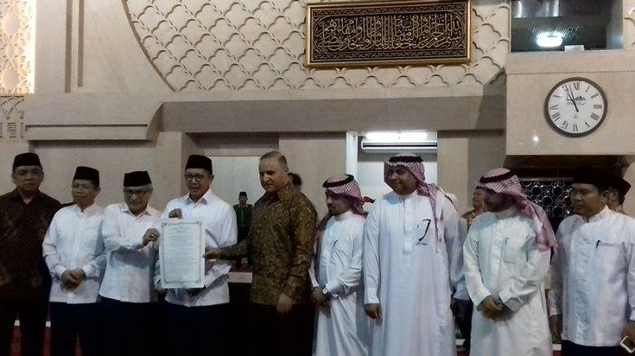Menteri Agama Resmikan Pemajangan Kiswah di Masjid Istiqlal