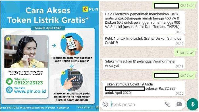 Klaim Token Listrik Gratis PLN via WhatsApp atau layanan.pln.co.id.