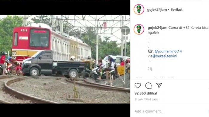 KLARIFIKASI: Bukan Karena Mengalah, Kereta di Bekasi Berhenti karena Menunggu Sinyal Aman