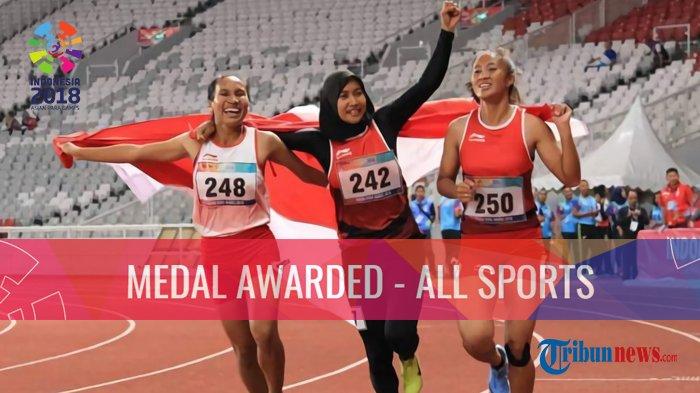 Indonesia 33 Emas, Klasemen Perolehan Medali Asian Para Games 2018, Jumat 12 Oktober 2018