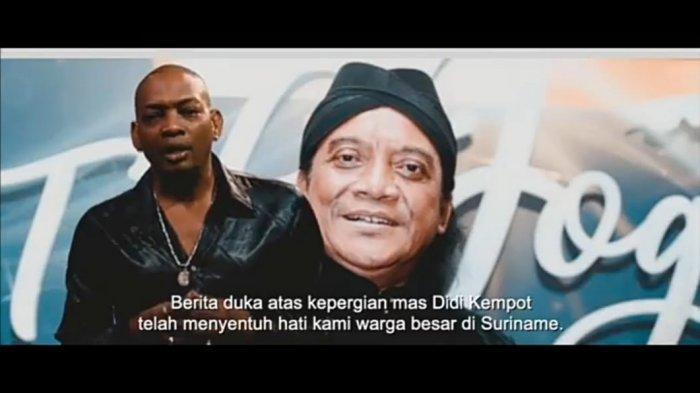 Puluhan Penyanyi Suriname Kolaborasi Bikin Klip Video Layang Kangen Didi Kempot