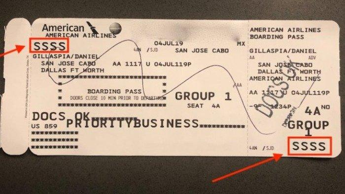 Waspada Jika Dapat Kode SSSS Pada Boarding Pass mu