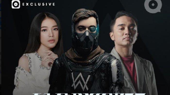 poster kolaborasi Alan Walker dengan Dipha Barus dan  Anneth Delliecia