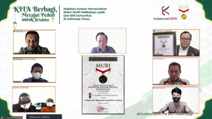 Aksi Kolaborasi yang Libatkan Ratusan Komunitas di Indonesia Timur Raih Penghargaan MURI