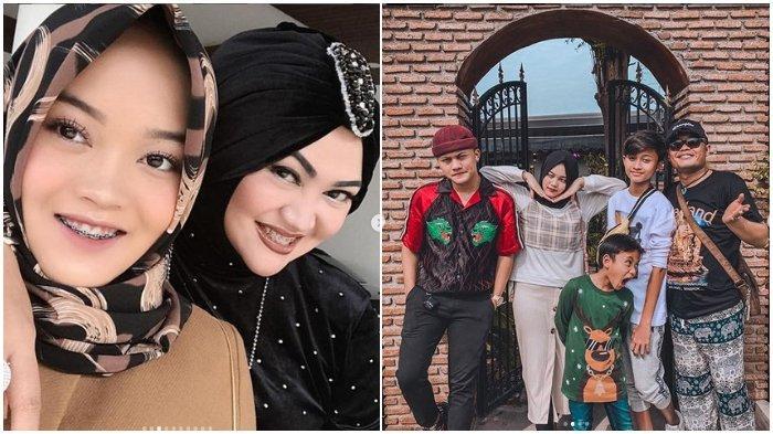 Kolase foto Lina, Putri Delina, Sule dan Keluarga