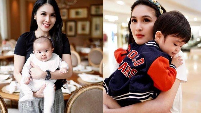 Kolase foto Sandra Dewi bersama dua putrinya, Raphael Moeis dan Mikhael Moeis