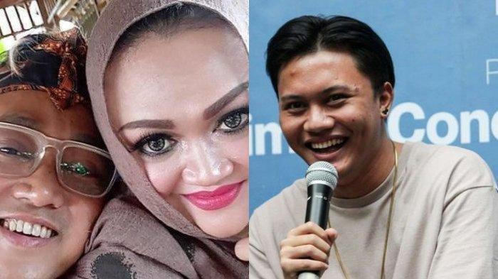 Kolase foto Teddy Pardiyana, Lina Jubaedah, dan Rizky Febian.