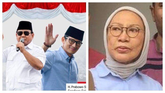 Kolase Pasangan Capres-Cawapres Prabowo-Sandiaga Uno dan Ratna Sarumpaet