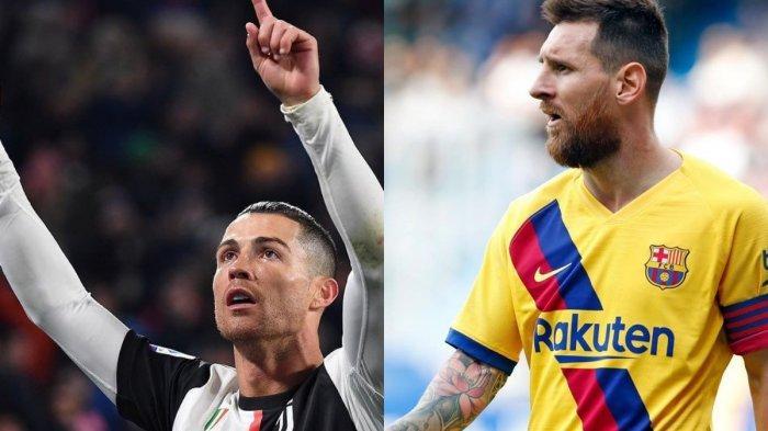 Kolase Ronaldo dan Messi