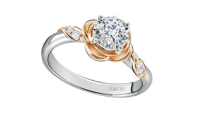 Koleksi cincin berlian wanita Peony Frank & co..