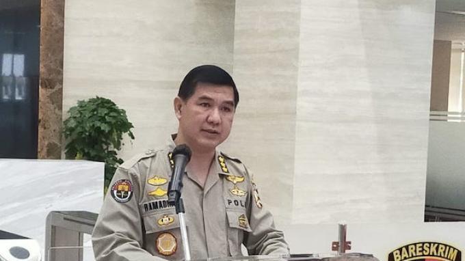 Kabag Penum Mabes Polri, Kombes Ahmad Ramadhan di Bareskrim Polri, Senin (18/5/2020).