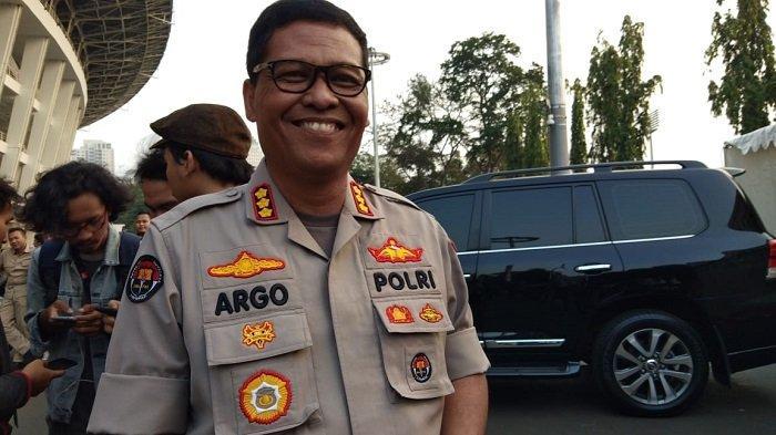 Kabid Humas Polda Metro Jaya, Kombes Pol Argo Yuwono, di SUGBK, Rabu (10/7/2019).