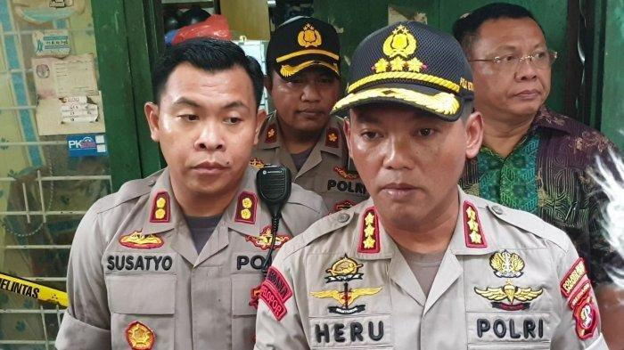 Kapolres Metro Jakarta Pusat Kombes Pol Heru Novianto usai melakukan olah tkp di kawasan Sawah Besar, Jakarta Pusat, Jumat (6/3/2020)