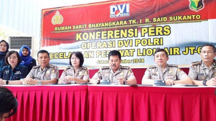 Polisi Pastikan Bagian Tubuh Semua Korban Lion Air yang Sudah Dikirim Tak Ditemukan Luka Bakar