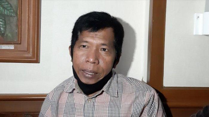 Komedian Kiwil di Pengadilan Agama Jakarta Selatan, Rabu (3/2/2021).