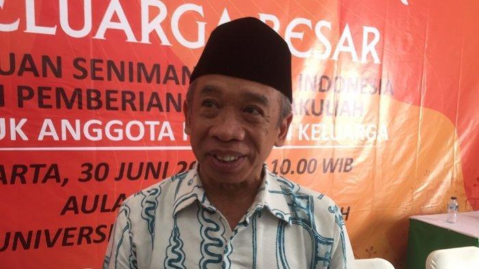 Komedian Nurul Qomar saat ditemui dalam acara halal bi halal PaSKI di kawasan Jatiwaringin, Pondok Gede Jakarta Timur, Minggu (30/6/2019).