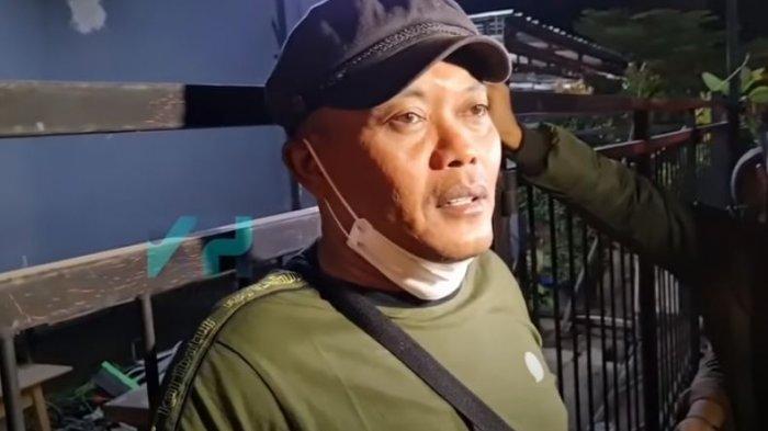 Komedian Sule saat dijumpai oleh awak media.