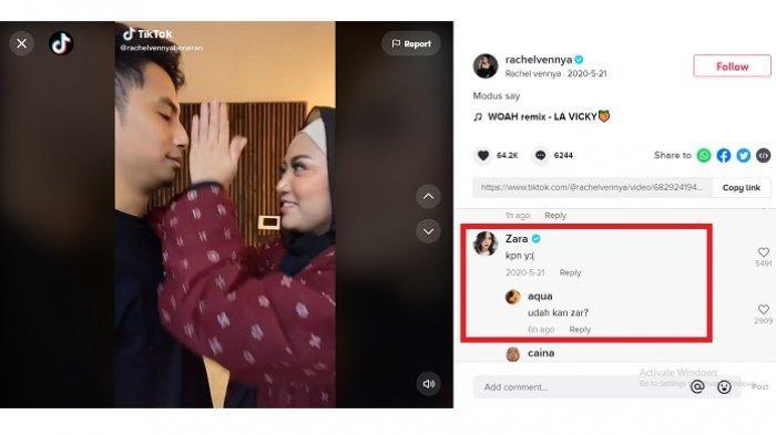Komentar lawas Adhisty Zara di video TikTok Rachel Vennya bareng Okin, viral setelah video mirip dirinya beredar luas.
