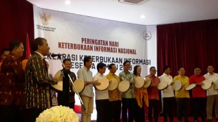 Partai Politik Peserta Pemilu 2019 Deklarasi Keterbukaan Informasi