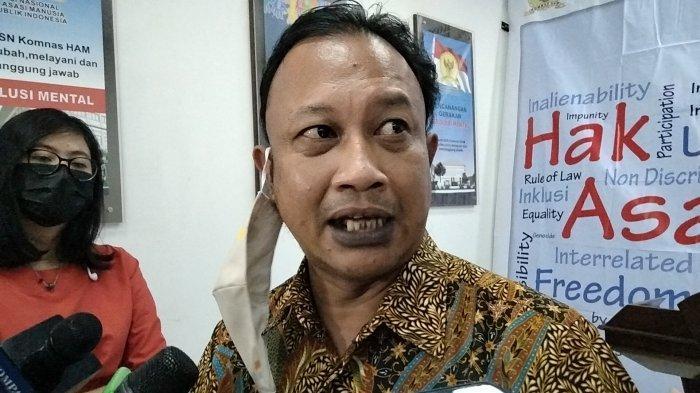 Komisioner Komisi Nasional Hak Asasi Manusia (Komnas HAM) M Choirul Anam