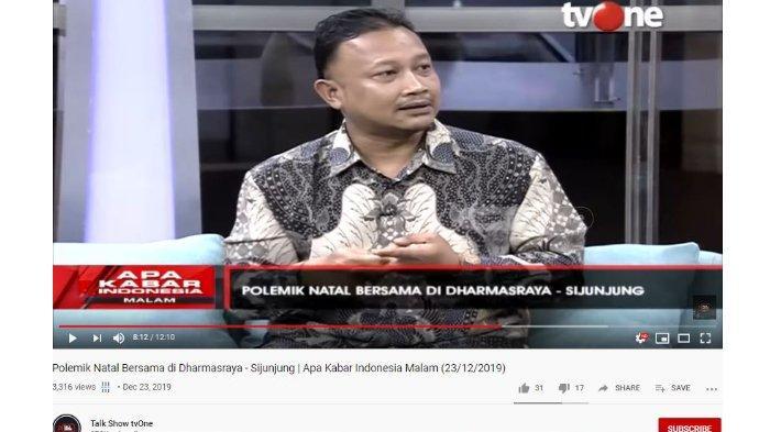 Komisioner Komnas HAM Choirul Anam membahas kabar pelarangan perayaan Natal di beberapa desa di Kabupaten Dharmasraya dan Sinjunjung, Sumatera Barat.