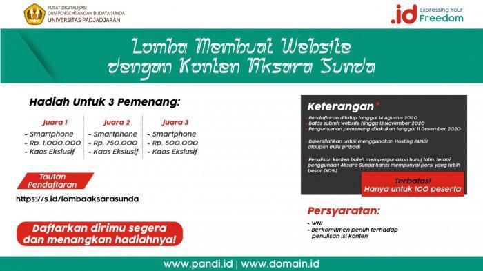 Lomba Bikin Website Berkonten Aksara Sunda Diperpanjang Sampai Awal 2021