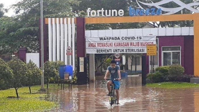 Perumahan Mewah di Ciledug Pun Terendam Banjir