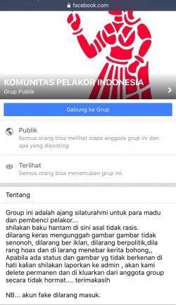 Heboh 'Komunitas Pelakor Indonesia' di Facebook.