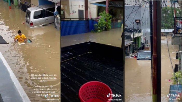 Warga Jababeka Kompak Jemur Perabot Bareng Tetangga setelah 2 Hari Tergenang Banjir, Videonya Viral