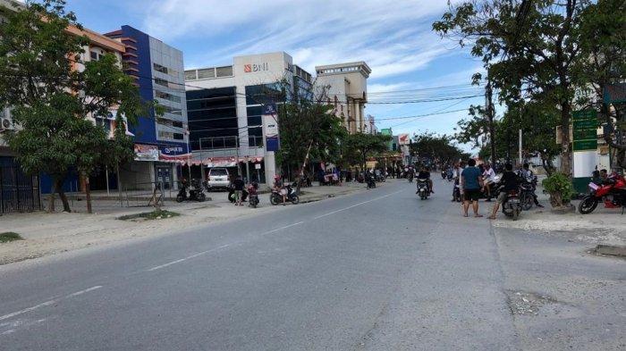 Kondisi jalanan di Jayapura, Papua, Kamis (29/8/2019).