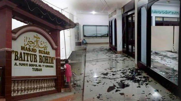 Pelaku Perusakan Masjid Tuban Rupanya Falih, Keponakan Zainudin