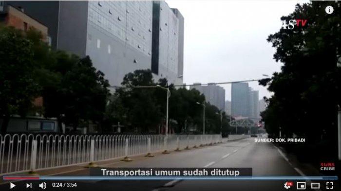 Tangkap Layar YouTube KompasTV Kondisi Kota Wuhan Berdasar Penuturan Rio Alfi