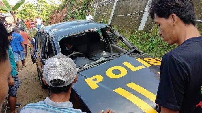 Mobil Polisi Jatuh ke Jurang Sedalam 12 Meter dan Nyaris Timpa Rumah Warga di Gunungkidul