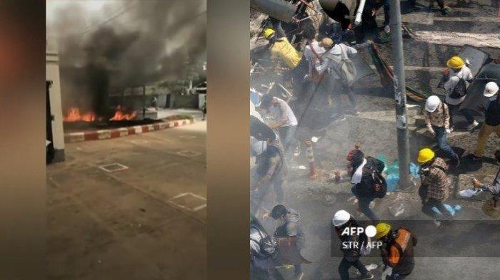 38 Orang Tewas di Myanmar saat Pabrik-pabrik China Dibakar
